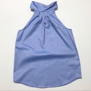 NWT J. Crew Tie-Neck Top in Oxford Cotton size 2